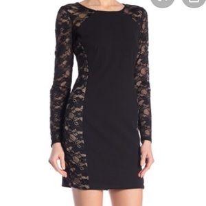 Bebe Illusion Bodycon Dress